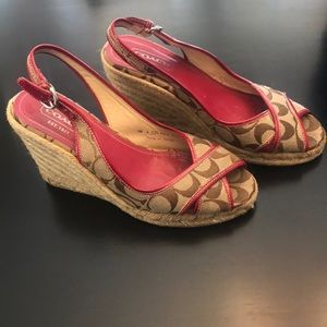 Coach wedges. Size 7